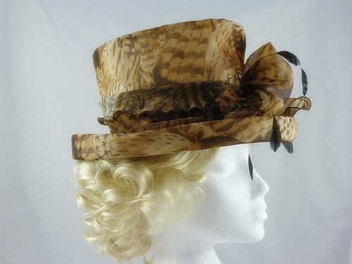 Frederick Fox Feather Print Wedding Hat