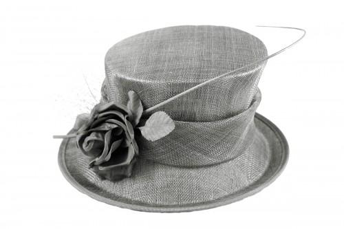 0d917a5cbeb Wedding Hats 4U - Failsworth Millinery Rose Wedding Hat in Steel - 7529