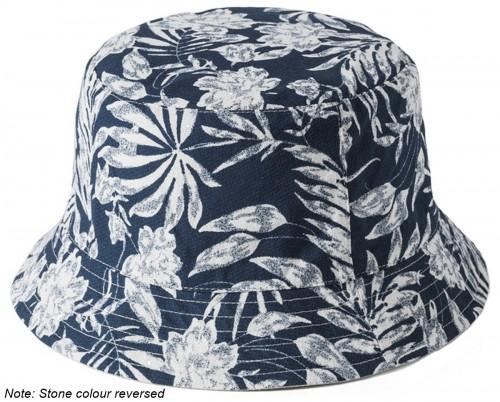 Failsworth Millinery Cotton Reversible Bucket Hat