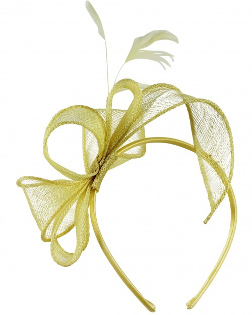 Elegance Collection Sinamay Loops and Feathers Fascinator