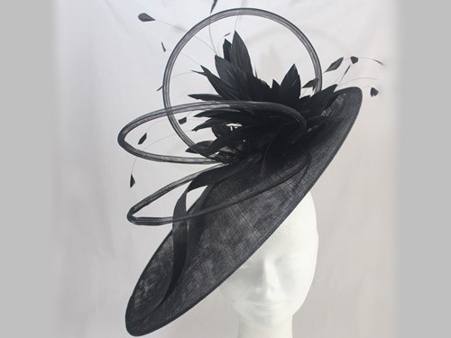 Suzie Mahony Designs Ascot Black Hat