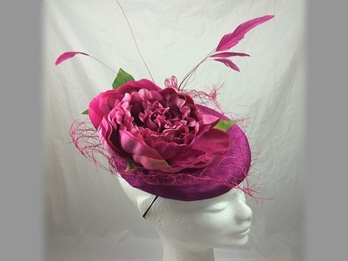 Suzie Mahony Designs Magenta Rose Headpiece