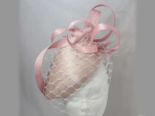 Suzie Mahony Designs Pink Silk Percher Hat