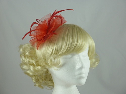 Aurora Collection Swirl & Biots Fascinator on clip