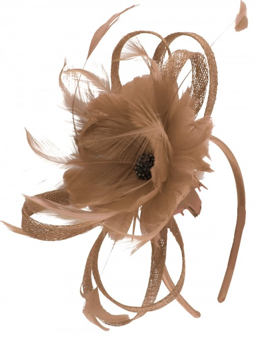 Failsworth Millinery Flower Fascinator in Taupe