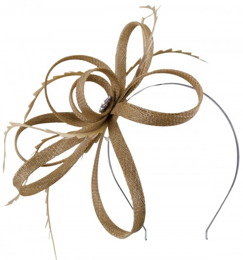 Failsworth Millinery Sinamay Loops Fascinator in Taupe