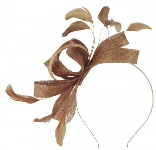 Failsworth Millinery Wide Loops Fascinator in Taupe