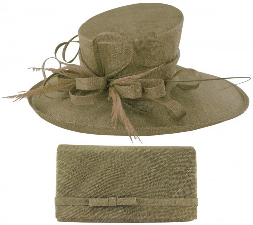 Max and Ellie Events Hat with Matching Large Occasion Bag