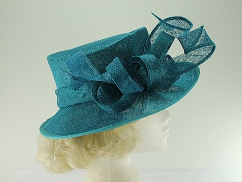 Wedding Hats 4U - Elegance Collection Events Hat in Teal - Morgan 06eeb3173ea