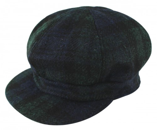 Failsworth Millinery Harris Tweed Bakerboy Cap in Teal