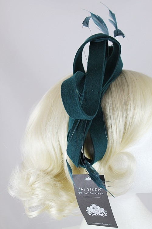 Failsworth Millinery Wool Loops Fascinator