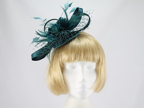 Wedding Hats 4U - Teal Green Fascinator 265f6db223f