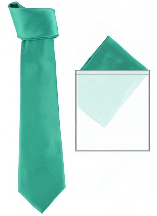 Max and Ellie Mens Tie and Pocket Square Set in Turquoise