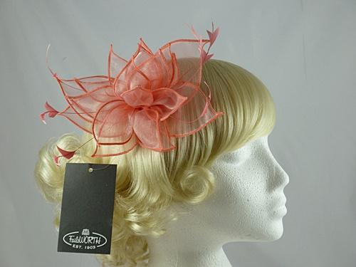 6649b13d7df4 Ascot Hats 4U - Failsworth Millinery Organza Fascinator in Vermilion ...