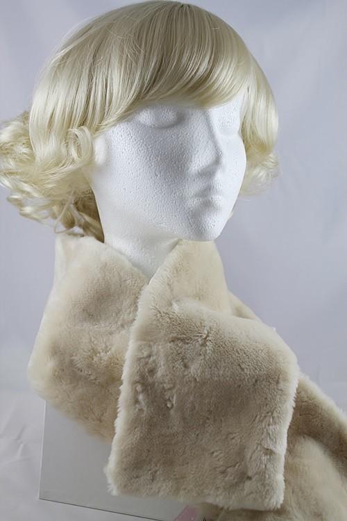 Victoria Ann Cream Faux Fur Stole