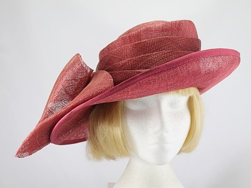Victoria Ann Deep Pink Formal Hat