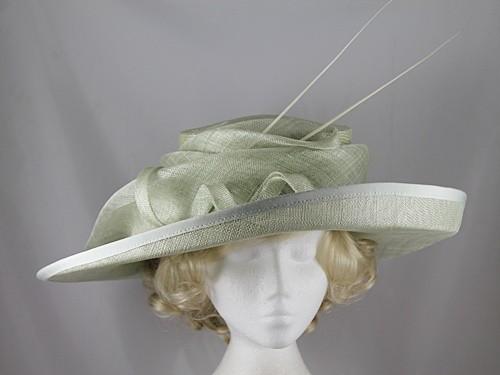 Victoria Ann Pale Green Events Hat