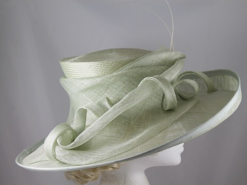 Victoria Ann Pale Green Events Hat