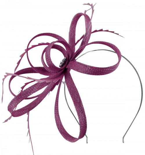 Failsworth Millinery Sinamay Loops Fascinator in Violet