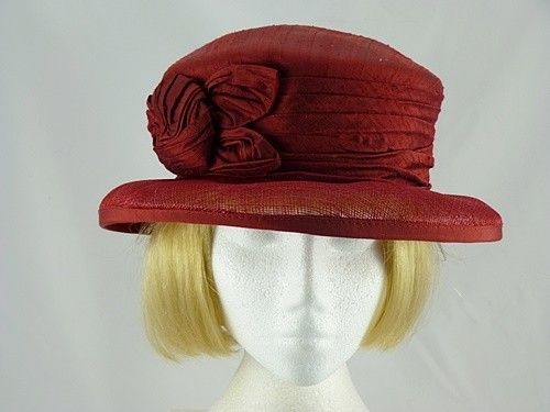 Walter Wright Burgundy Occasion Hat