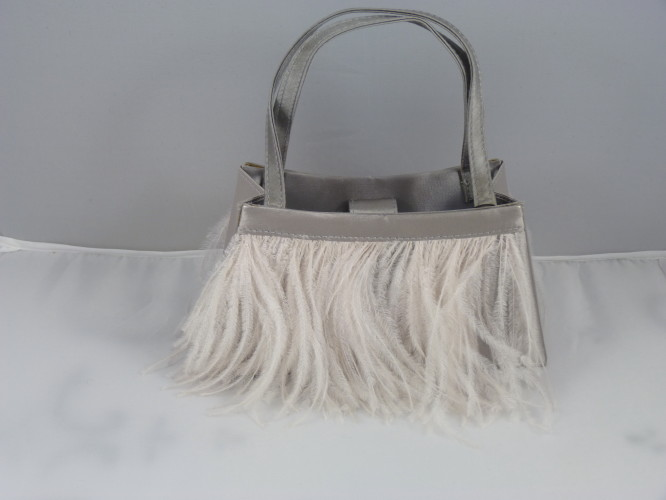 Wedding bag Silver Grey