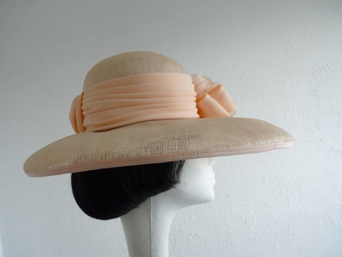 Cappelli Condici Ascot hat Peach Apricot