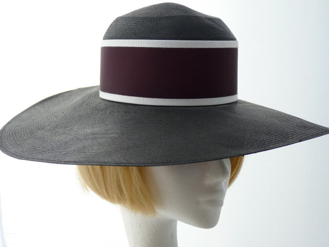 Whiteley Ascot hat Black and White