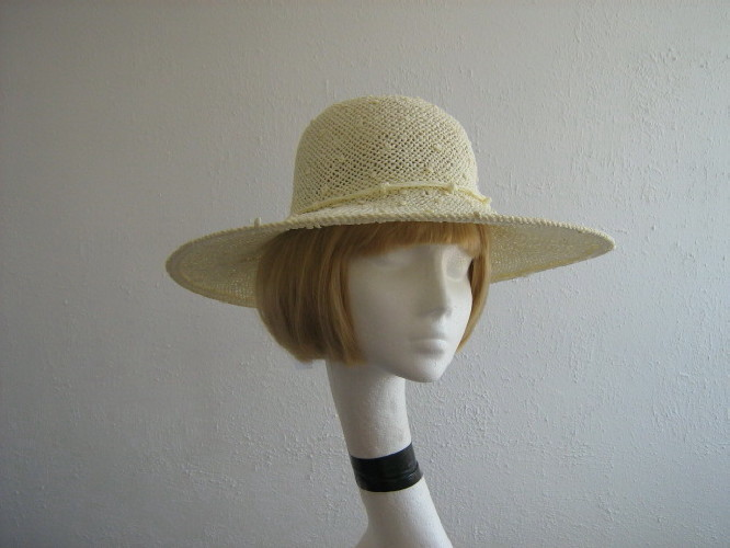 Wedding hat Summer hat Cream