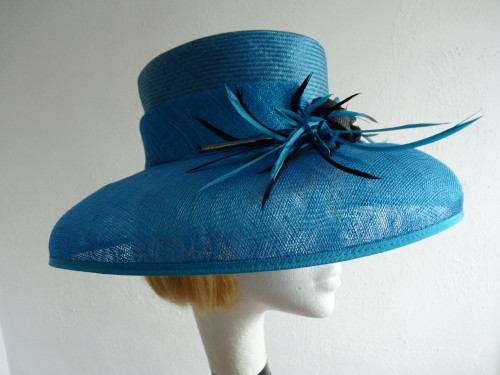 Wedding Hats 4U - Headways (by Albert) Ascot hat Kingfisher Blue in Blue 32f3ac79ec8