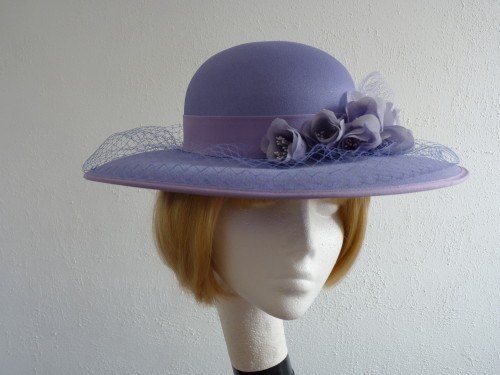 Eastex Wedding hat Lavender roses