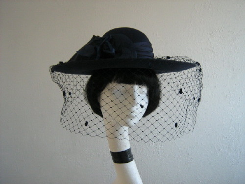 Nigel Rayment Wedding hat Navy 22