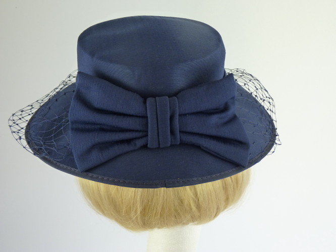 Wedding Hats 4U - Wedding hat Navy with Bow in Navy f932abee283