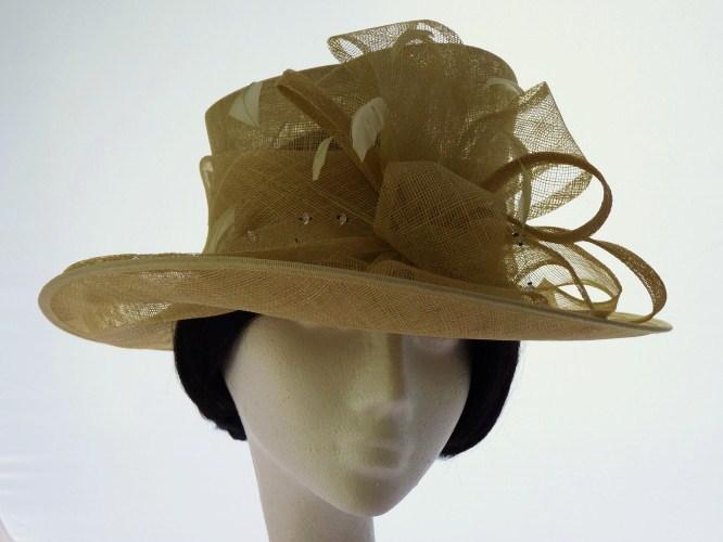 Failsworth Millinery Wedding hat Pale Lemon