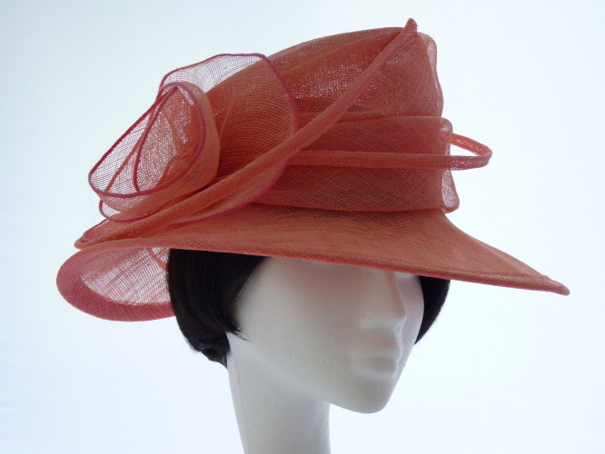 Wedding hat Pink Swirls