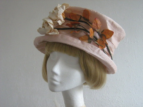 L K Bennett Wedding Hat / Mother Of The Bride Hat Pink Silk