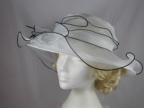 Organza Two Tone Wedding Hat