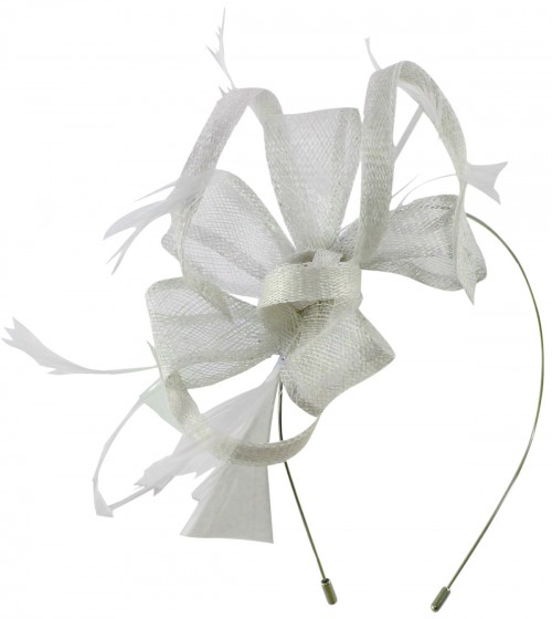 Max and Ellie Flower Fascinator in White
