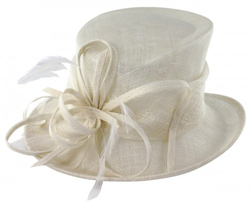Max and Ellie Occasion Hat in White