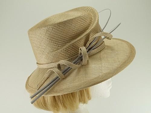 Whiteley Beige Wedding Hat