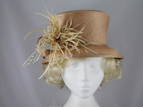 Whiteley Butterscotch Wedding Hat