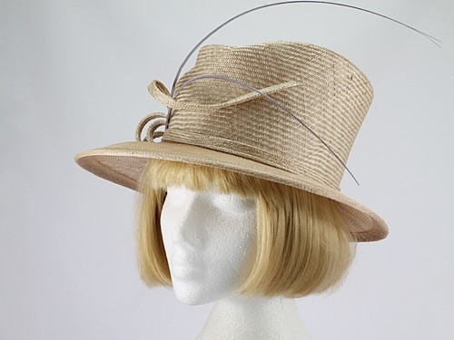 Whiteley Cappuccino and Grey Wedding Hat