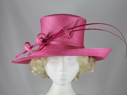 Whiteley Cerise Wedding Hat