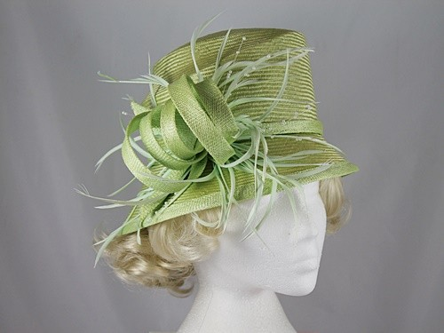 Whiteley Light Green Occasion Hat