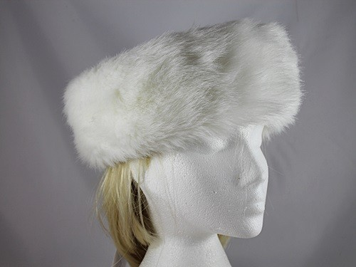 Whiteley Nappa Faux Fur Hat in White