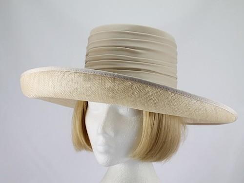 Whiteley Palest Coffee Wedding Hat