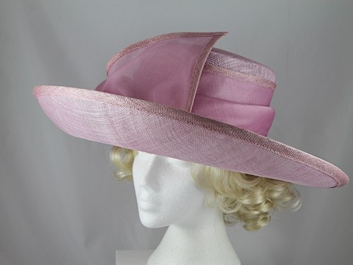 Whiteley Pink Ascot Hat