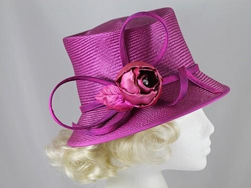 Whiteley Purple Wedding Hat