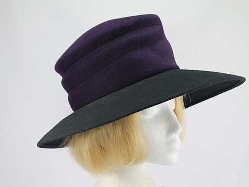 Whiteley Purple and Black Winter Occasion Hat