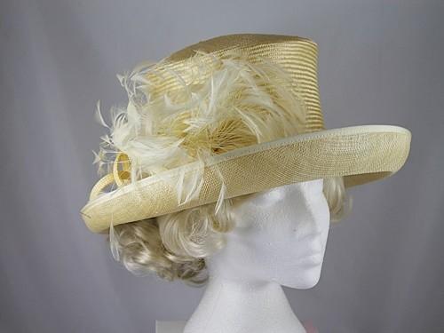 Whiteley Yellow Wedding Hat
