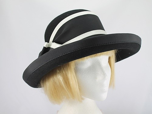 Black and White Winter Occasion Hat